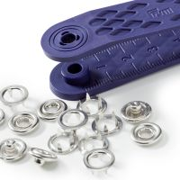 Set capse 10mm, pentru materiale subtiri si stretch