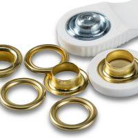 541371 Ocheti 11mm aurii, pentru imbracaminte
