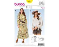 Tipar rochie si bluza tip ie Burda 6592
