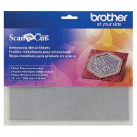 Foi metalice cu foi adezive de protecţie pentru embosare liniară (silver) Brother ScanNCut