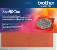 Foi metalice cu foi adezive de protecţie pentru embosare liniară (bronz)