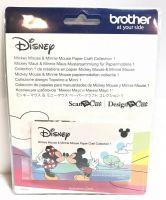 Colecție de modele pe hârtie Mickey Mouse și Minnie Mouse Brother ScanNCut