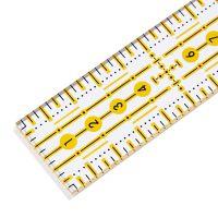 Rigla pentru croitorie, patchwork, design grafic, 3 x 30 cm, PRYM 611650
