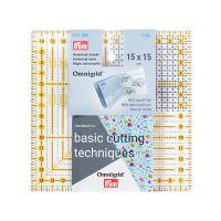 Rigla patrata pentru croitorie, patchwork, design grafic, 15 x 15 cm, PRYM 611306