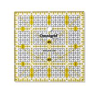 Rigla tip patrat pentru croitorie, patchwork, design grafic, dimensiuni 4 x 4 inch, PRYM 611472