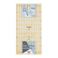 Rigla pentru croitorie, patchwork, design grafic, 15 x 30 cm, PRYM 611307