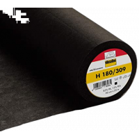 Insertie termocolanta pentru matase, vascoza, ideala mansete, betelii, gulere, 90 x100 cm, culoare negru, 37 gr Vlieseline H180