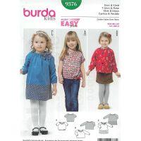 Tipar rochita/bluza copii Burda 9376
