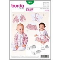 9410 Tipar fustita/bluza copii Burda